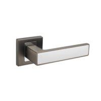 Klamka Premium Line Concept tytan biały szyld kwadrat