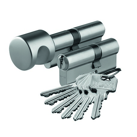 Zestaw wkładek WILKA klasa C na jeden klucz NIKIEL